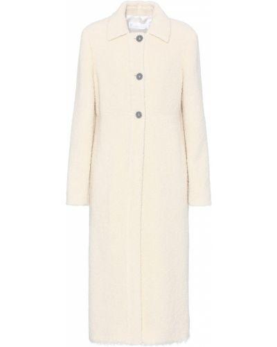 Шерстяное пальто айвори Victoria Beckham