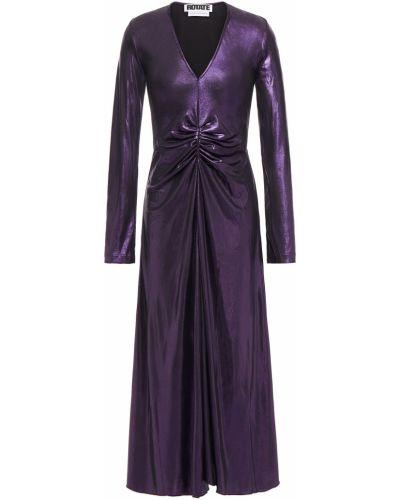 Fioletowa sukienka midi zapinane na guziki Rotate Birger Christensen