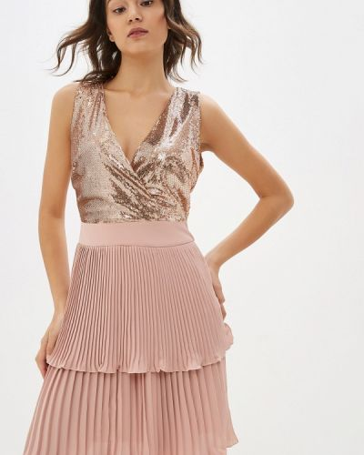 Вечернее платье осеннее золотой Miss Miss By Valentina