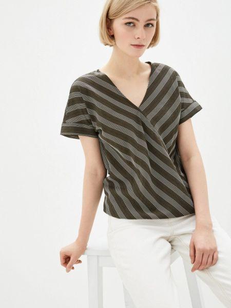 Блузка с коротким рукавом хаки Baon