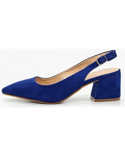 Туфли на каблуке с открытой пяткой велюровые Coco Perla