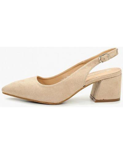 Туфли на каблуке с открытой пяткой замшевые Coco Perla