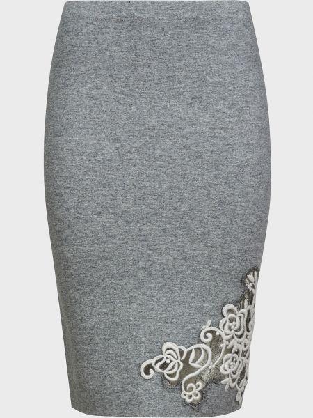 Серая шерстяная юбка D.exterior