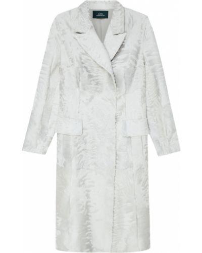 Прямое пальто с отложным воротником из каракульчи Alena Akhmadullina