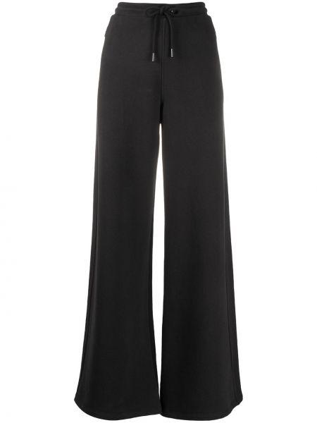 Черные расклешенные спортивные брюки с высокой посадкой на молнии Opening Ceremony