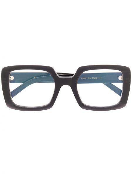 Черные очки прямоугольные Marni Eyewear