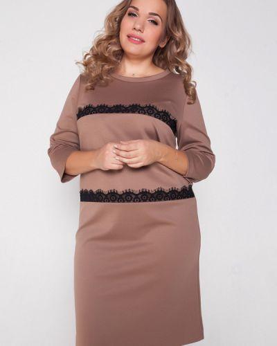Платье осеннее бежевое Eliseeva Olesya