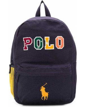 Рюкзак с логотипом синий Ralph Lauren Kids