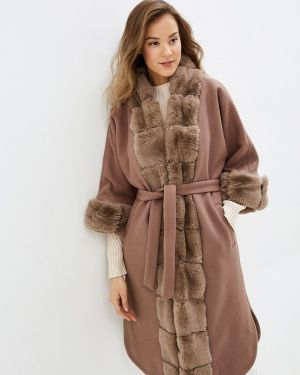 Зимнее пальто бежевое пальто Glam Goddess