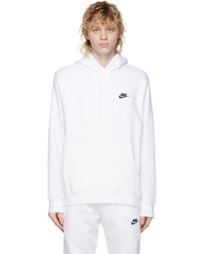 Czarny pulower z haftem z długimi rękawami Nike