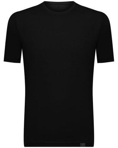 Черная хлопковая футболка Capobianco