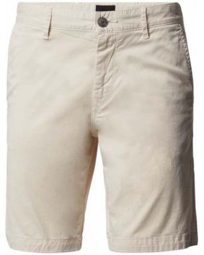 Białe bermudy bawełniane Boss Casualwear