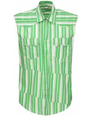 Лаковая классическая рубашка с воротником с нашивками без рукавов Phipps