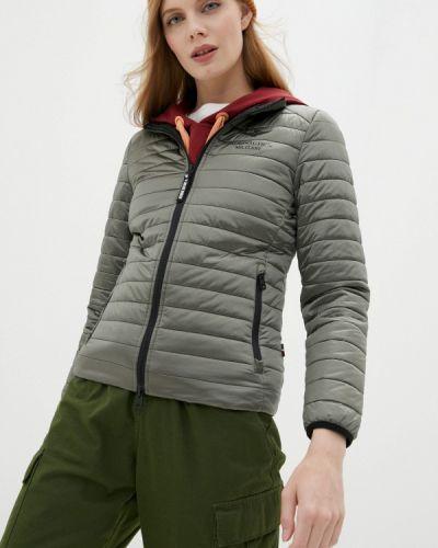 Теплая зеленая утепленная куртка Aeronautica Militare