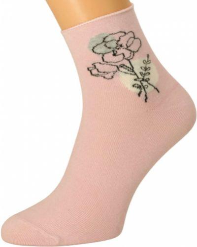 Różowe skarpety bawełniane Bratex