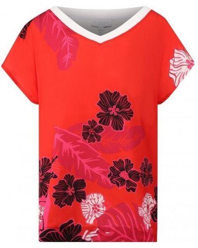 Bluzka w kwiaty z printem Escada Sport
