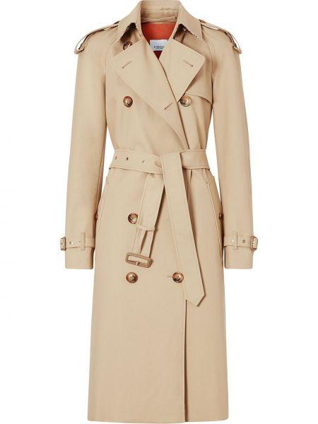 Płaszcz z paskiem kopertowy bawełniany Burberry