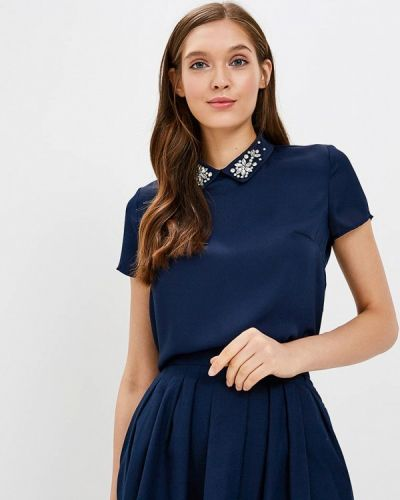 Синяя блузка с коротким рукавом Zarina