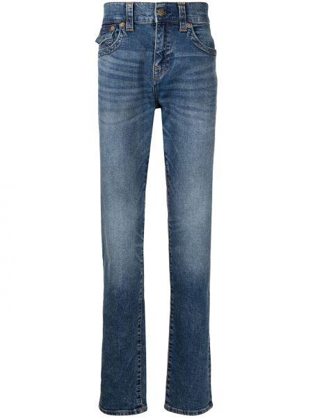 Прямые джинсы классические - синие True Religion