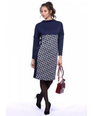 Платье с поясом со вставками через плечо Lautus
