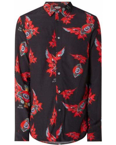 Czarna koszula z długimi rękawami z wiskozy Zadig & Voltaire