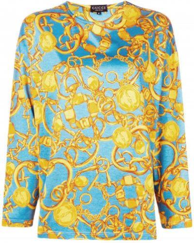 Блузка с длинным рукавом винтажная прямая Gucci Vintage