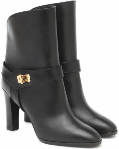 Czarny buty z prawdziwej skóry Givenchy