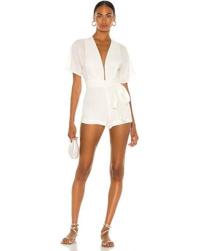Облегченный белый ромпер на молнии Vix Swimwear