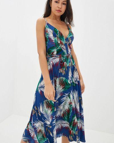 Платье с запахом весеннее Gepur