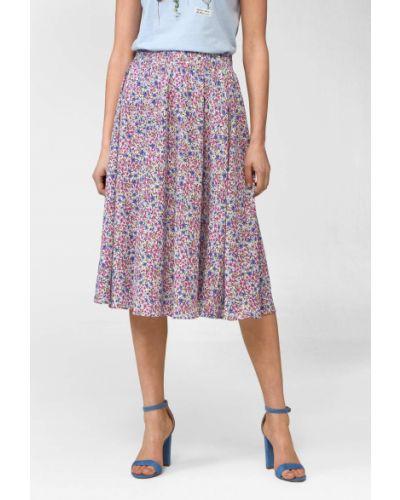 Fioletowa spódnica rozkloszowana w kwiaty Orsay