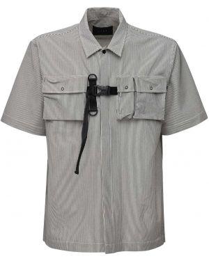 Klasyczna klasyczna koszula krótki rękaw klamry Iise