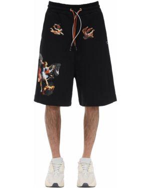 Czarne krótkie szorty bawełniane Ihs