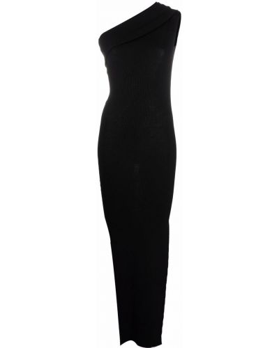 Sukienka prążkowana - czarna Rick Owens