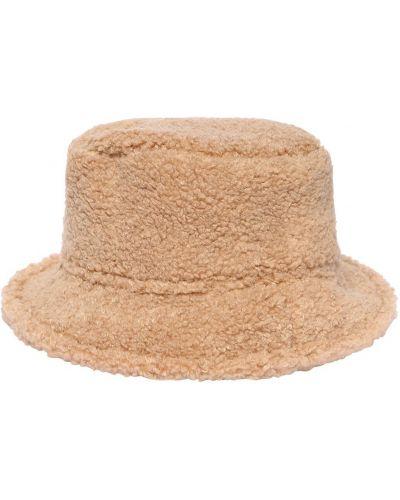 Beżowy bawełna bawełna kapelusz prążkowany Il Gufo