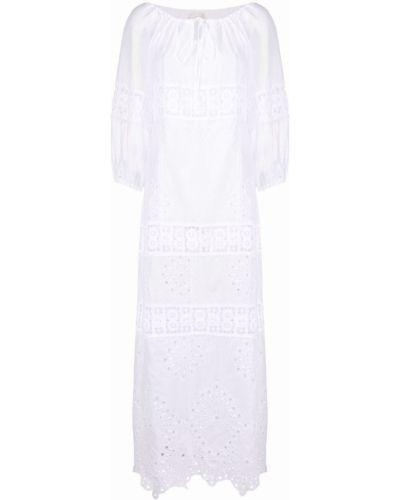Хлопковое белое платье макси с манжетами Anjuna