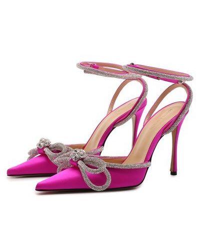 Розовые текстильные туфли Mach & Mach