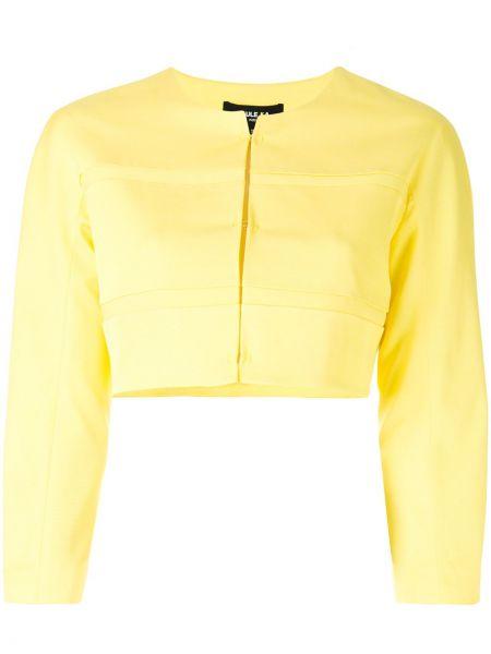 Открытый желтый пиджак круглый Paule Ka