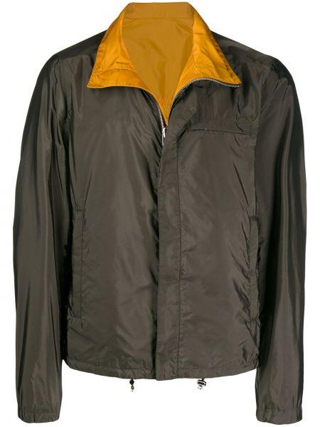 Куртка зеленая на молнии Prada