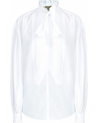 Блузка с бантом с воротником-стойкой Burberry