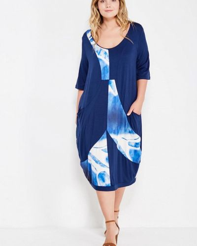 Платье вязаное синее Fiorella Rubino