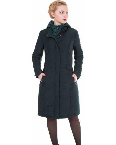 Пальто с капюшоном с воротником-стойкой на кнопках с воротником J-splash