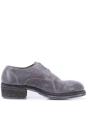 Туфли на каблуке на низком каблуке на шнуровке Guidi