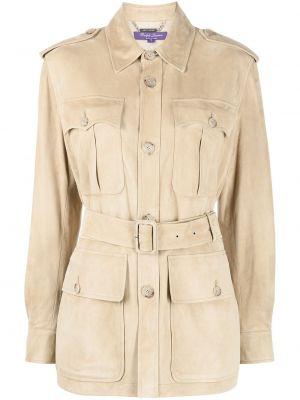 Brązowa kurtka wełniana Ralph Lauren Collection