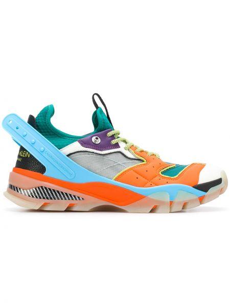 Sneakersy skorzane sznurowane koronkowe Calvin Klein 205w39nyc