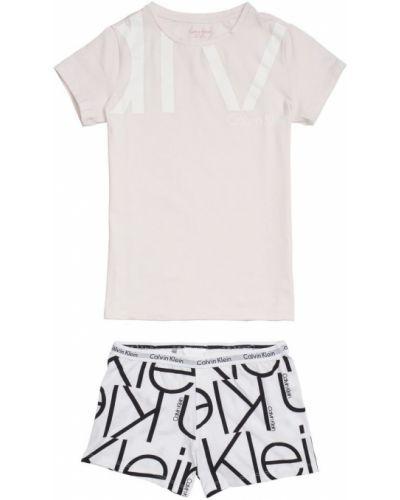 Czarna piżama krótki rękaw Calvin Klein