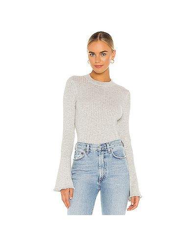 Шелковый серый свитер Paige