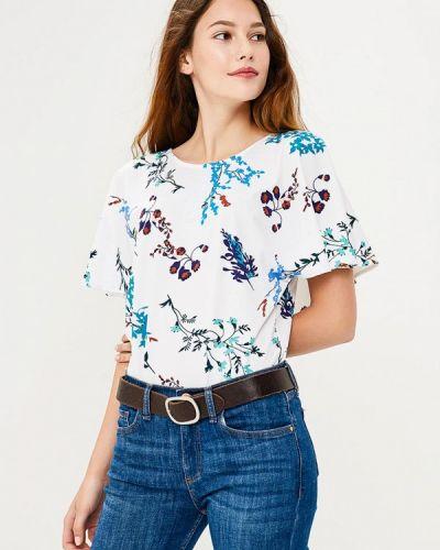 Блузка с коротким рукавом белая Zarina