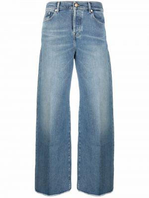 Синие джинсы с завышенной талией 7 For All Mankind
