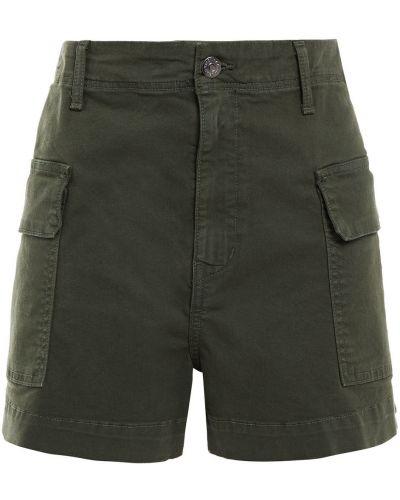 Армейские хлопковые шорты с карманами Veronica Beard