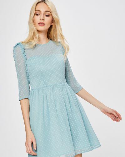 Платье мини с оборками с вырезом Answear